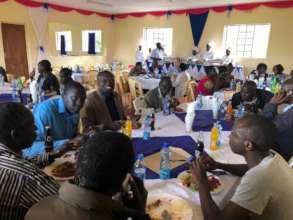 BOG members & guests enjoying good food