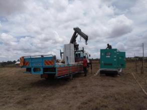 New generator being unloaded