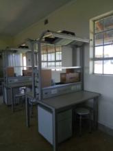 Training desks in electrical workshop