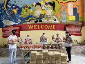 Comembo Elementary School prepares kids' modules.