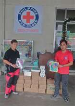 Sending books through the Philippine Red Cross