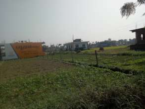 East view and farming style in village