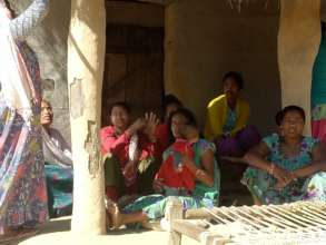 Women waiting for meeting @ Sapana Shibir, Kailari