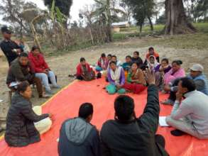 Meeting with right holders @ Sundarpur, Gauriganga