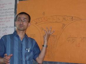 Pushker Kadel as trainer in teacher's training