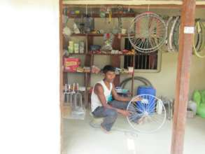 Cycle repair shop in Kaiali