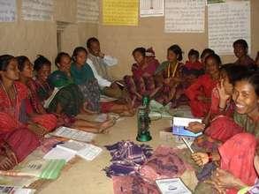 Tharu community group meeting
