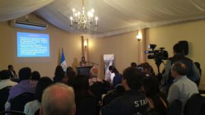 Fellow Ana Giro launching the 2015 HRI report