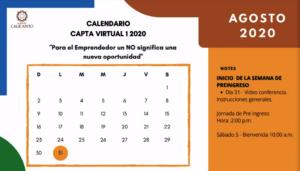 Activity Calendar for Capta Virtual