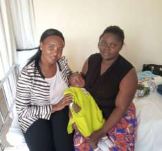 Irene visiting Baby Adhi and mom