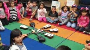 Charlie's class makes a ukulele daisy