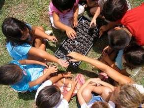 Children Learn in the Garden