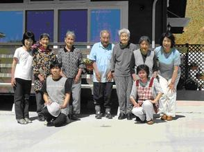 Users and workers at new Hinatabokko Care Center