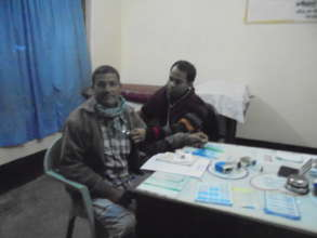 Atwar being examined by a Doctor