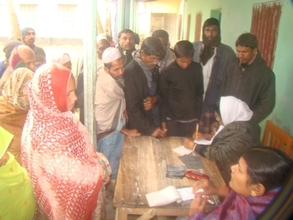Diabetic Patients being Registered atChapadah Camp