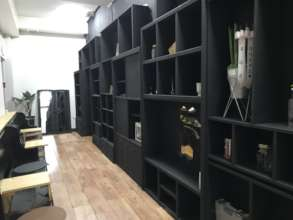"""Minyeal helped assemble shelves at """"Good Coffee"""""""