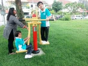 Engaging in outdoor activities!