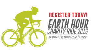 "Advertisement of  ""Earth Hour"" Charity Ride 2016"