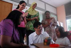 Staff joined at Siti's Play time