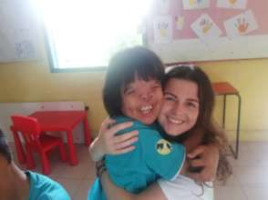 Siti with the lovely  volunteer,Katja Foerderer