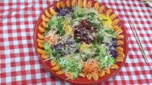 Fresh and colorful organic homemade Lousang