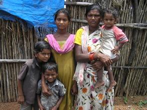One family from Sundarayya Colony Slum school