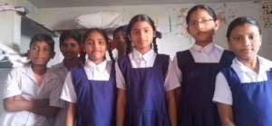 children from the school at swarnabharathinagar