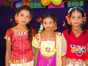 Children from Schools in a party