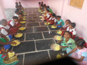 Mid day meal lunch program in a school