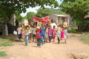 Children conducted a rally on Child labor day