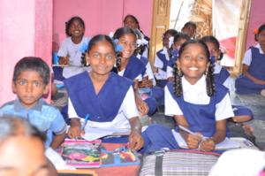 Happy to attend school please help