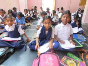 Ramarajunagar slum school class room