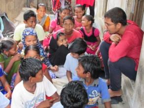 Mr Pratip Representative Global Giving visit