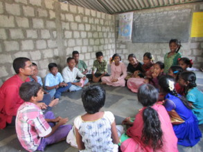 Mr. Pratip, children in a class room at CPI Colony