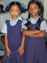 two girls from the school