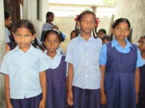 some of the children in school