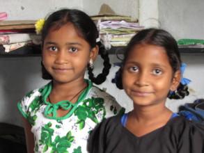 girls in Slum school