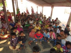 children in a program