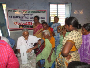 medical checkups in a village