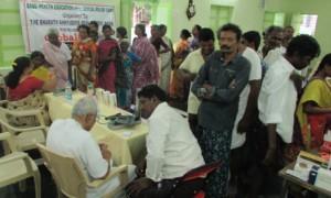 BASS health camp in a village
