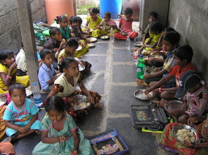 Nutrition meal for children in a school