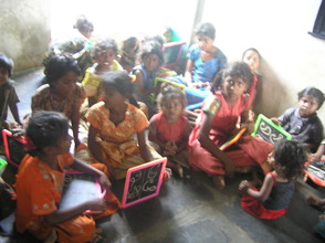 Children in the class at KVP Colony School