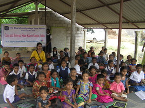 Neeharika from Global Giving visit to the children