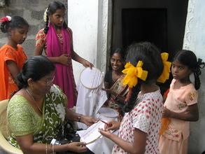 Children learning in Vocational skills