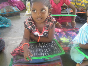In the classroom at Dasaripalem