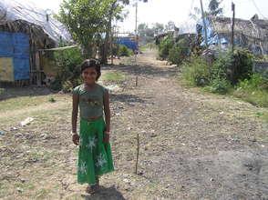 Sundarayya Colony slum girl
