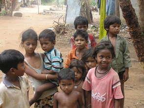 Boyapalem stone crusher colony children