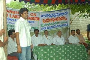 Project leader organising awareness meet