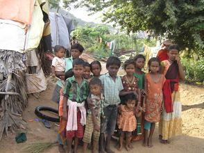 Out of school children in stone quarry
