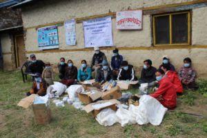 Kermi, Restocking medicines and materials.